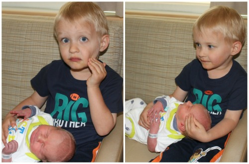 Finn & Sammy meeting in the hospital.